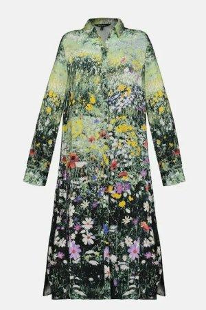 Ulla Popken Shirtwaist dress multicolored viscose