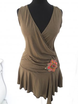 Only Tunic Dress green grey cotton