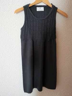 Allude Woolen Dress dark grey cashmere