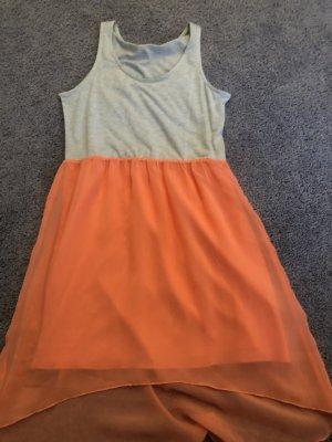 Robe à franges argenté-orange