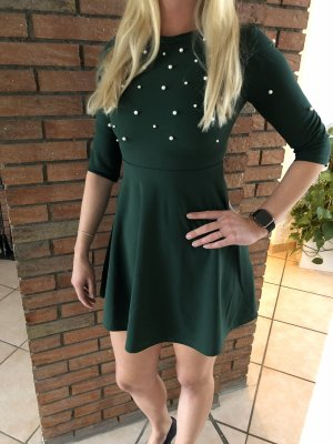 SheIn vestido de globo verde bosque