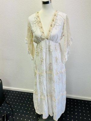 Sumitra Spain Hippie Dress white-cream cotton