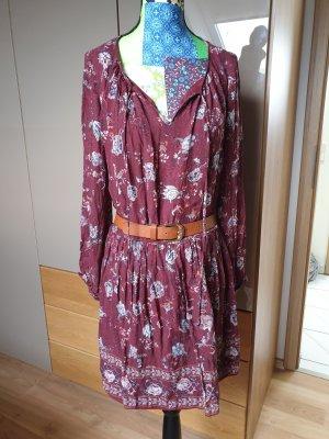 Marc Cain Collections Robe avec floralem Motif Robe Femme Rouge Nouveau