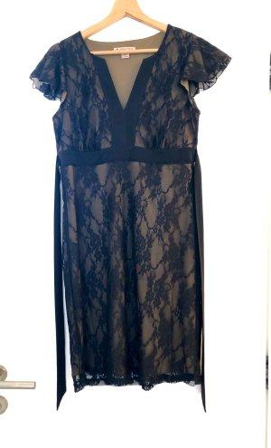Anna Field Kanten jurk zwart-grijs-bruin