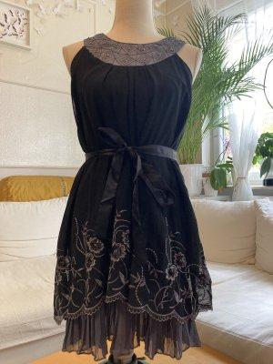 Sukienka z falbanami Wielokolorowy Jedwab