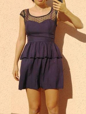 süßes Kleid Volants dunkelblau Gr.34