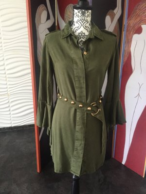 Guess by Marciano Blouse Dress olive green cotton