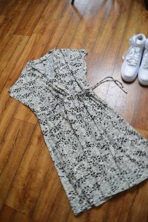 H&M Mini vestido blanco-negro
