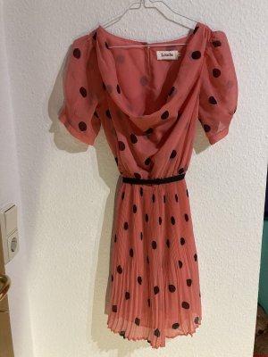 Louche Szyfonowa sukienka łosowiowy-czarny