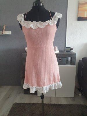 Asos Sukienka bez ramiączek biały-różany