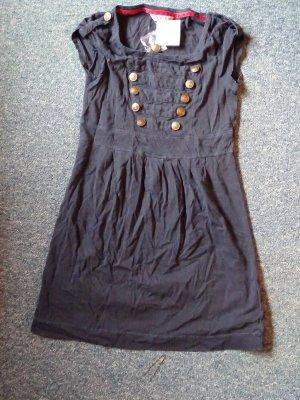 Review Vestido estilo camisa azul acero-color oro
