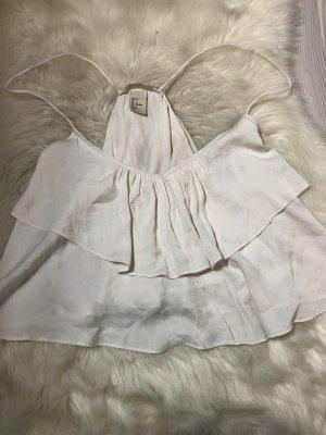 H&M Top recortado blanco puro