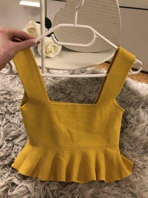 Zara Top corto giallo-oro-giallo