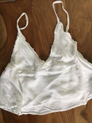 Pull & Bear Top tipo bustier blanco
