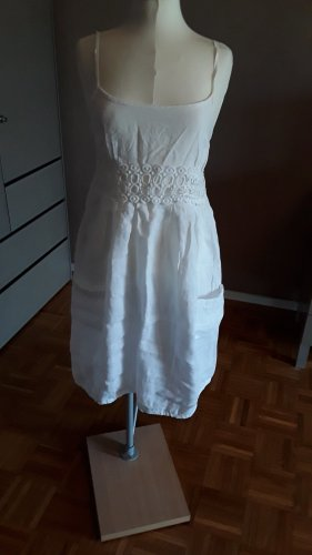 Vestido playero blanco Lino