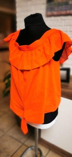 Süßes luftiges Esprit Carmen Top  neu mit Etikett  orange Braun Gr L Neu