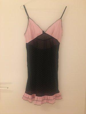 H&M Peniuar czarny-jasny różowy