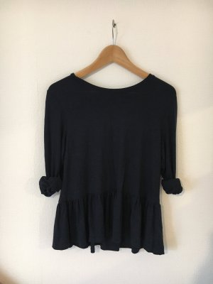 Only Cowl-Neck Shirt dark blue