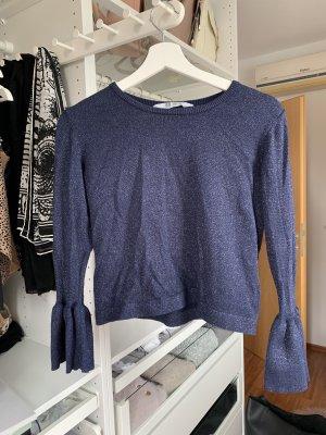 H&M Lange top donkerblauw