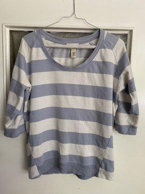 Diesel T-shirt rayé blanc cassé-bleu azur