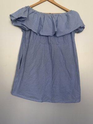 Süßes Off Shoulder Kleid - gestreift