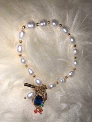 Les Néréides Brazalete de perlas multicolor vidrio