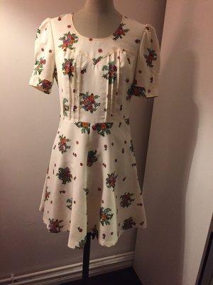 Süßes Retro Hippie Minikleid mit Blumen Gr 36