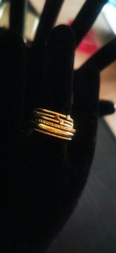 Anillo de oro color bronce-color oro