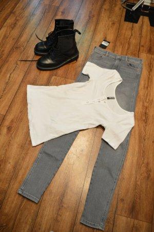 Süßes Rippen T-Shirt weiss 38 von PIECES