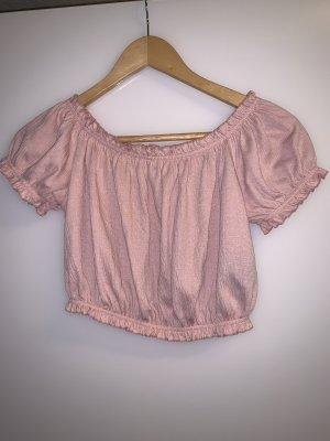 H&M Divided Top recortado color rosa dorado-rosa