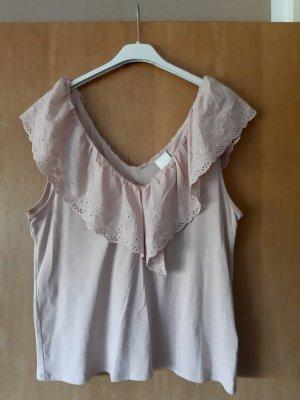 HM T-shirt col en V vieux rose-rosé