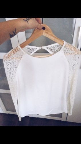 Only Crochet Shirt cream-white