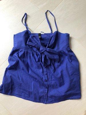 H&M Top o kroju litery A niebieski Bawełna