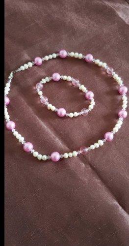 Braccialetto sottile bianco-rosa