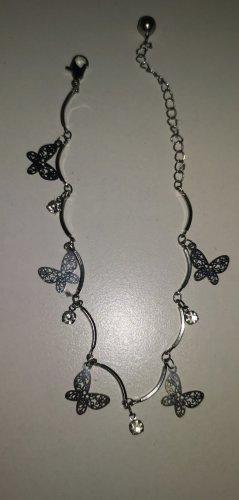 süßes Schmuckset Schmetterling Fußkettchen Silber Modeschmuck neu ovp