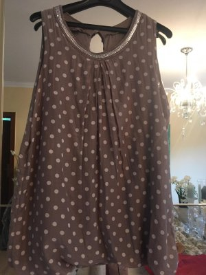 Made in Italy Silk Top light brown-white silk
