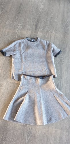 Zara Twin Set punto gris claro-gris