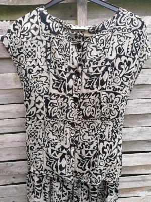 Süßes She Kleid Sommerkleid Vintage 2 Teiler Rock Bluse 100 %Cupro fast Maxikleid Blumen Muster gr 40