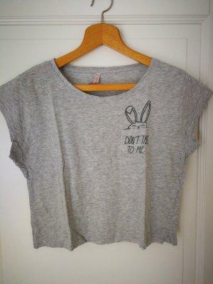 FB Sister Cropped shirt zwart-lichtgrijs