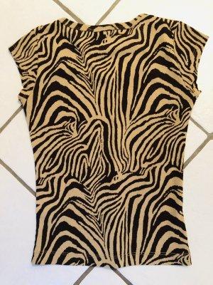 Süßes Shirt Animal Print Tiger Zebra beige braun Mexx XS