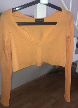 Süßes Shirt apricot farbend gr.38