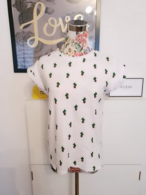 Shirt Tunic white-forest green
