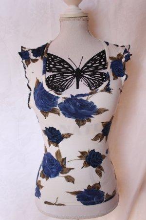 Süßes Shirt in Blumenmuster Gr.S/M