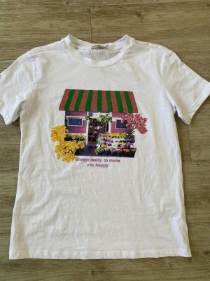 Stradivarius T-shirt imprimé multicolore coton