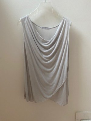 Cowl-Neck Shirt light grey