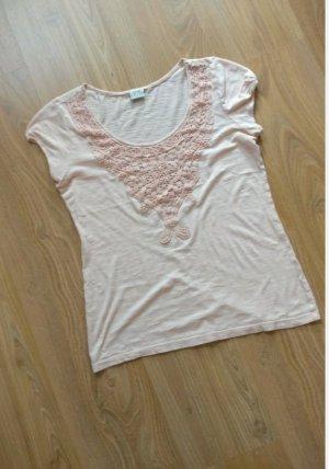 Süßes Shirt von Esprit,Gr. M, Altrosa,Spitzendetails, neuwertig