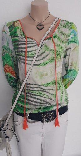 Malvin Camicia fantasia bianco-verde chiaro