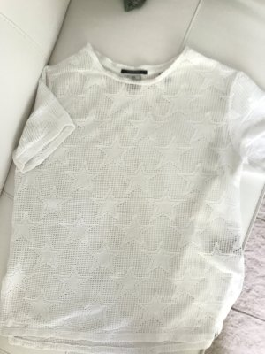 Scotch & Soda Top maillé blanc-blanc cassé coton