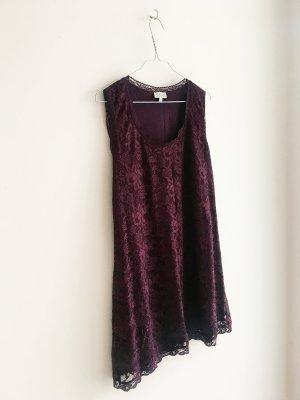 Süßes Sommer-Kleidchen aus Spitze Bordeaux Rot Weinrot