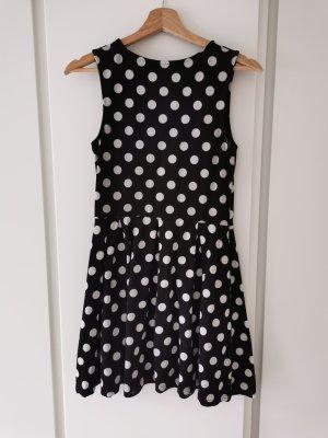 Be only Sukienka z krótkim rękawem biały-czarny